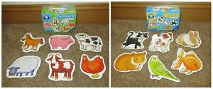 Orchard Toys Pets & Farmyard Animals 2 Piece Jigsaw Puzzles 18 months+ Toddler