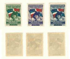 Dominican Republic, Postage Stamp, #326-328 Mint Hinged, 1937 Flag
