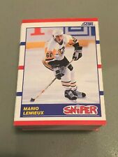 W) LOT of 100 MARIO LEMIEUX 1990 SCORE SNIPER PITTSBURGH PENGUINS CARD #337