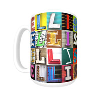 Details about  /CHRISTINE Coffee Mug Cup featuring the name in photos of actual sign letters