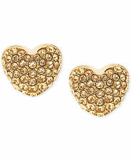 MICHAEL KORS Gold-Tone and Crystal Heart Stud Earrings