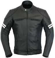 Blouson Franklin Cuir Veste Moto Manteau Protection