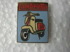 Lambretta pin badge. Lapel. Brand new. Scooter on a blue background