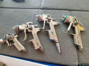 sata spray guns 4 guns in total auto body