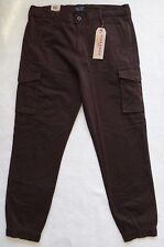 Levi's Banded Cargo Jogger Pants Men's Slim Fit Brown Elastic Cuff Size 34x32