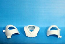 3 Pcs Playmobil White Chest Shield Armor