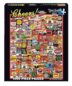 Cheers! Beer Labels 1000 Piece Jigsaw Puzzle 760mm x 610mm   (wmp)