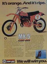 CAN-AM MX-5 370 & 250 Ad 1979 IT'S ORANGE & IT'S RIPE