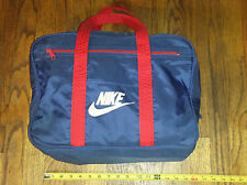 RARE Vintage NIKE Orange Swoosh Tag Gym Bag Carry On Travel Blue Red Sports Work