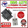 50 Amp Anderson External Mounting Kit Bracket Dust Cap Cover + 1 SOLDERLESS Plug