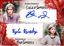 Walking Dead Survival Box Dual Autograph Card Brighton Sharbino & Kyla Kenedy
