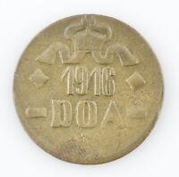 1916 T German East Africa 20 Heller Extra Fine KM#15a