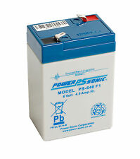 Power-Sonic 6v 4.5ah AGM Lead Acid Rechargeable Battery Ps-640 Batteries