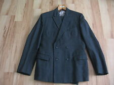 Vintage 50's Bespoke John Collier Man's Double Breasted Suit 40 chest 32/34 Wa