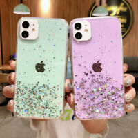 Bling Star Glitter Slim Silicone Case Cover For iPhone 12 11 Pro Max XR X XS 8 7