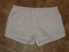 "Women's J. Crew Chino Broken In White Shorts Size 6 Waist 32"""