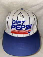 Vintage 90s Youngan Pinstripe Diet Pepsi Soda Snapback Hat Cap - FAST SHIPPING