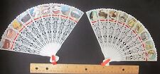 Vtg Lot Plastic Souvenir Folding Hand Fan Hong Kong Sea World Pikes Peak Travel