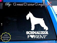 Schnauzer PARENT(S) - Vinyl Decal Sticker / Color Choice - HIGH QUALITY