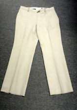 BROOKS BROTHERS Beige Wool Blend Flat Front Lined Dress Pants Size 14 GG0390