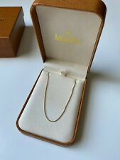 """Solid 18K Yellow Gold Cable Chain Necklace 16"""" w/ 14"""" Adjustment & Lobster Clasp"""