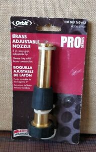 "Orbit 5"" -- Adjustable Brass Nozzle Water Sprayer -- Hose Tip -- 262-613 27928"