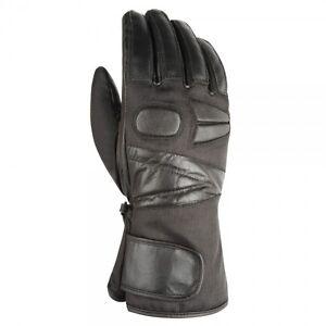 Sonderangebot - Akito Easy Wasserdicht Winter Motorrad Handschuhe - Schwarz -