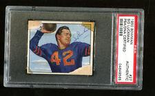 1950 Bowman Sid Luckman Signed Autographed Card d. 1998 HOF PSA/DNA