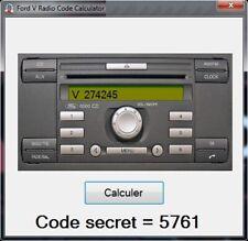 Ford V series Radio code calculator - generator - Unlocked - UNLIMITED