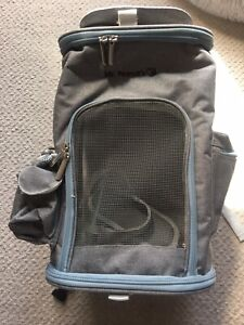 Mr. Peanut's Cat Dog Carrier Backpack Grey Excellent Condition