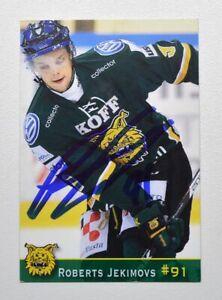 2013-14 Liiga Ilves Roberts Jekimovs Autograph