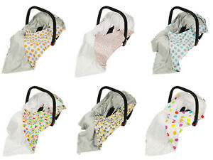 Baby Wrap For Car Seat / Travel Wrap / Car Seat Blanket With Bees, Flowers, Dots