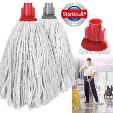 More details for 2 x mop plastic socket cotton mop head heavy duty absorbent py14 floor mop 240gm