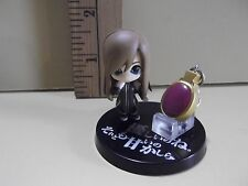 """#A432 Unknown Anime 1.75""""in tan Hair Blue eyes Girl with Charm"""