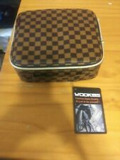Wodkeis Makeup train case cosmetic organizer Brown NWOT