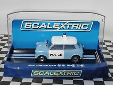 SCALEXTRIC MORRIS MINI POLICE CAR   C3213  1.32  BNIB