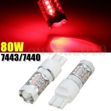2x 80W 7443/7440 Tail Indicator Brake Stop Signal Light LED Bulbs Red High Power