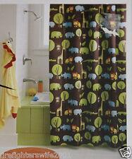 Circo Jungle Safari Kids Bath Fabric Shower Curtain 72x72 Brown Nwop