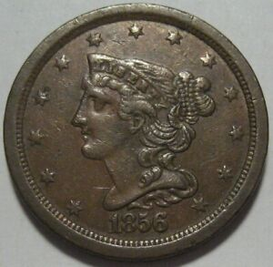 = 1856 XF+ Half Cent, Super EYE Appeal, Low Mintage 40K, FREE Shipping