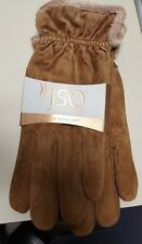 Isotoner Casual Brown Suede with MICROLUXE Lining size LG Women's Gloves