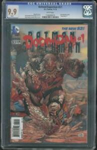 Batman Superman 3.1 CGC 9.9 Greg Pak Tony Daniel Doomsday 3-D Variant up 9.8