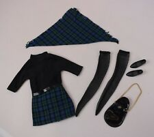 Vintage Pedigree Sindy Lunch Date Outfit 12S04 Dress Scarf Bag Shoes & Stockings