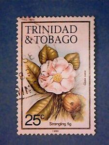 Trinidad & Tobago. QE2 1989 25c Flowers. SG690. Wmk Ww16 sideways. P14. Used.