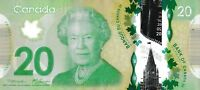 2012 CANADA POLYMER $20 DOLLAR 3-DIGIT REPEATER BANK NOTE - BSE1130113