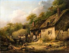 The Bell Inn by George Morland late 1780s British Old Masters 8x10 Art Print