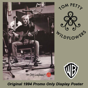 "TOM PETTY - Wildflowers Original 24""x 36"" 1994 Promotional Store Display Poster"
