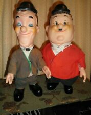 "Vintage Antique Laurel & Hardy 14"" Dolls R. Dakin Co.+ A Lot Of Orig. Clothes"