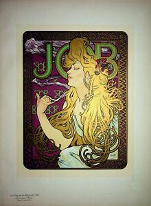 MUCHA : Papier à cigarette Job - Lithographie originale signée,1900