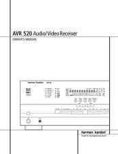 Harman Kardon AVR-520 AV Receiver Owners Manual