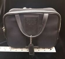 Vintage COACH Nylon/Leather Travel Cosmetic Tote